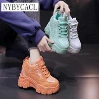 womens platform shoes 2021 spring autumn pu leather casual women shoes high heels female sneakers woman white fashion shoe
