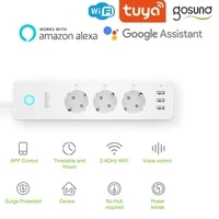 Tuya Gosund 16A WiFi Smart Power Strip With 3 USB Ports And Independent Switch Support Multi-Plug Support Alexa Google Home