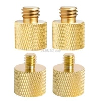 Pure Copper 1 4 Female to 3 8 Male Tripod Thread 1 4 Male to 3 8 Female Reducer Adapter Mount Screw for Photofraph Light
