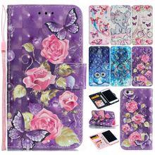 Lila Blume Coque Nette Painted Telefon Fall Für Abdeckung Huawei Mate 20 Lite Pro Flip Leder Telefon Taschen Dame Brieftasche turm DP15F