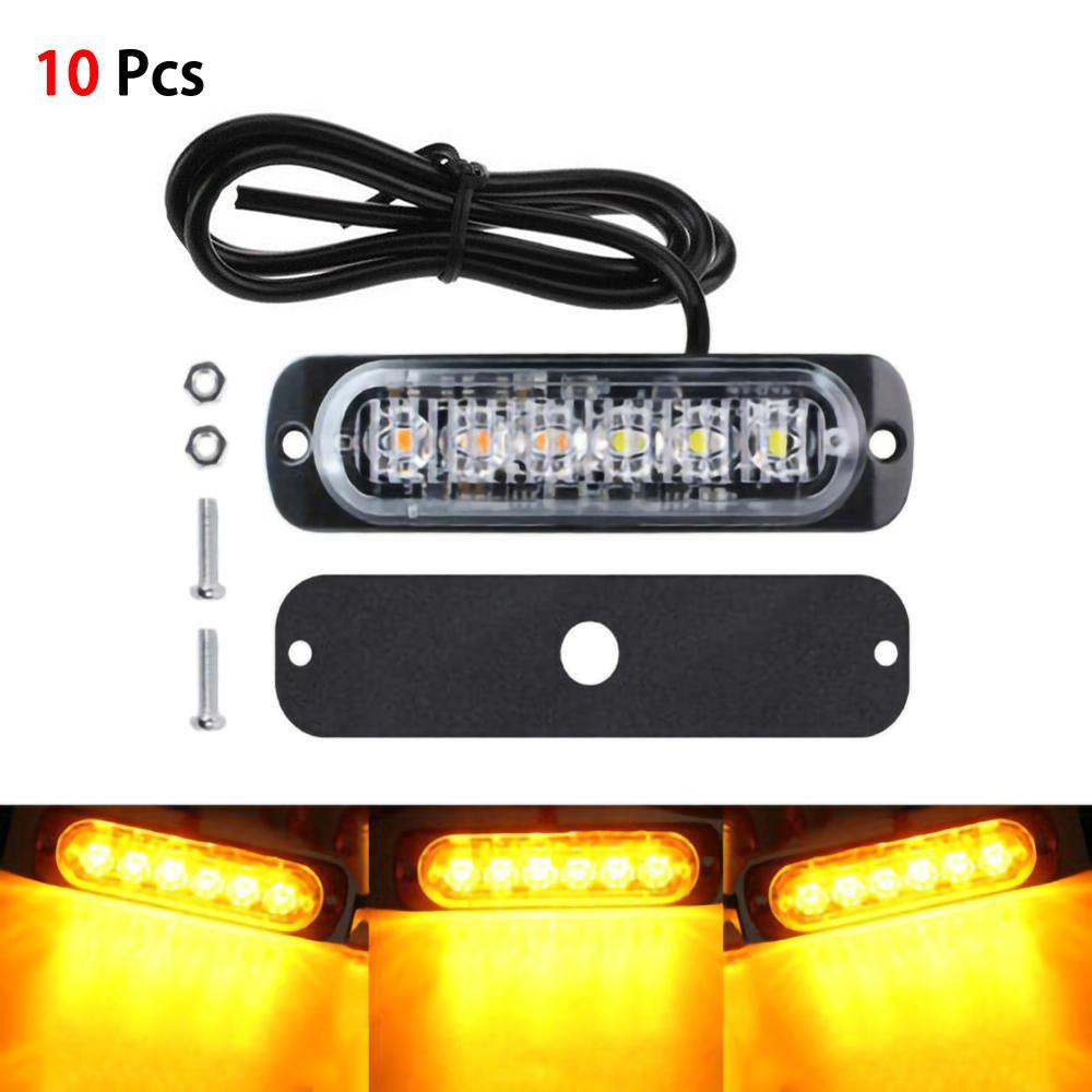 10 шт., автомобильные фонари 18 Вт, 6 светодисветодиодный, 12 В
