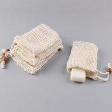 Soap mesh bag cotton hemp  natural plant fiber environmental protection manual soap foaming mesh storage bag Bath ball  bath