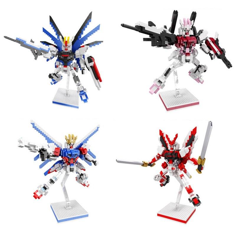 Super robot guerra de destino micro Diamante de la libertad huelga I.W.S.P Gundam rojo camino montar nanobricks modelo Juguetes