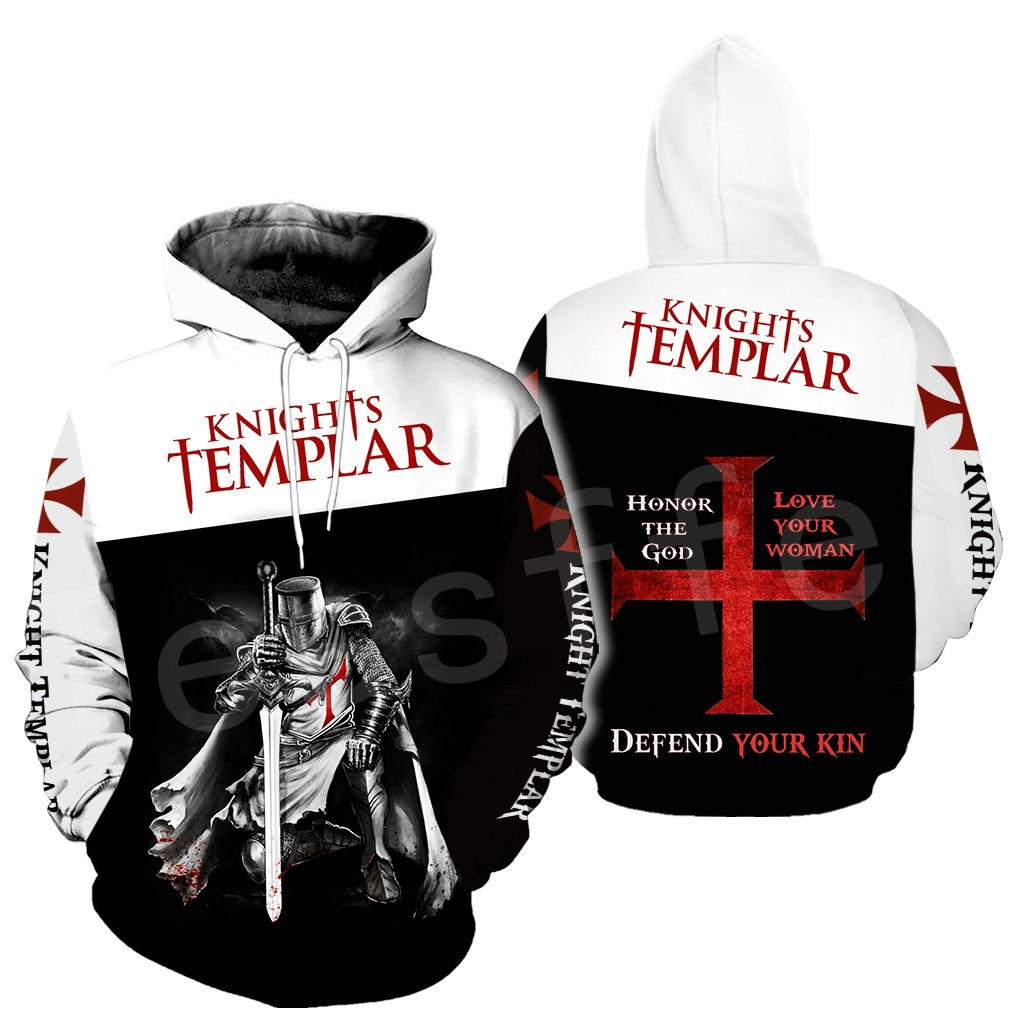 Tessffel cavaleiros templar armadura pulôver streetwear harajuku pulôver 3dfullprint zíper/moletom com capuz/moletom/jaqueta/masculino womens s11