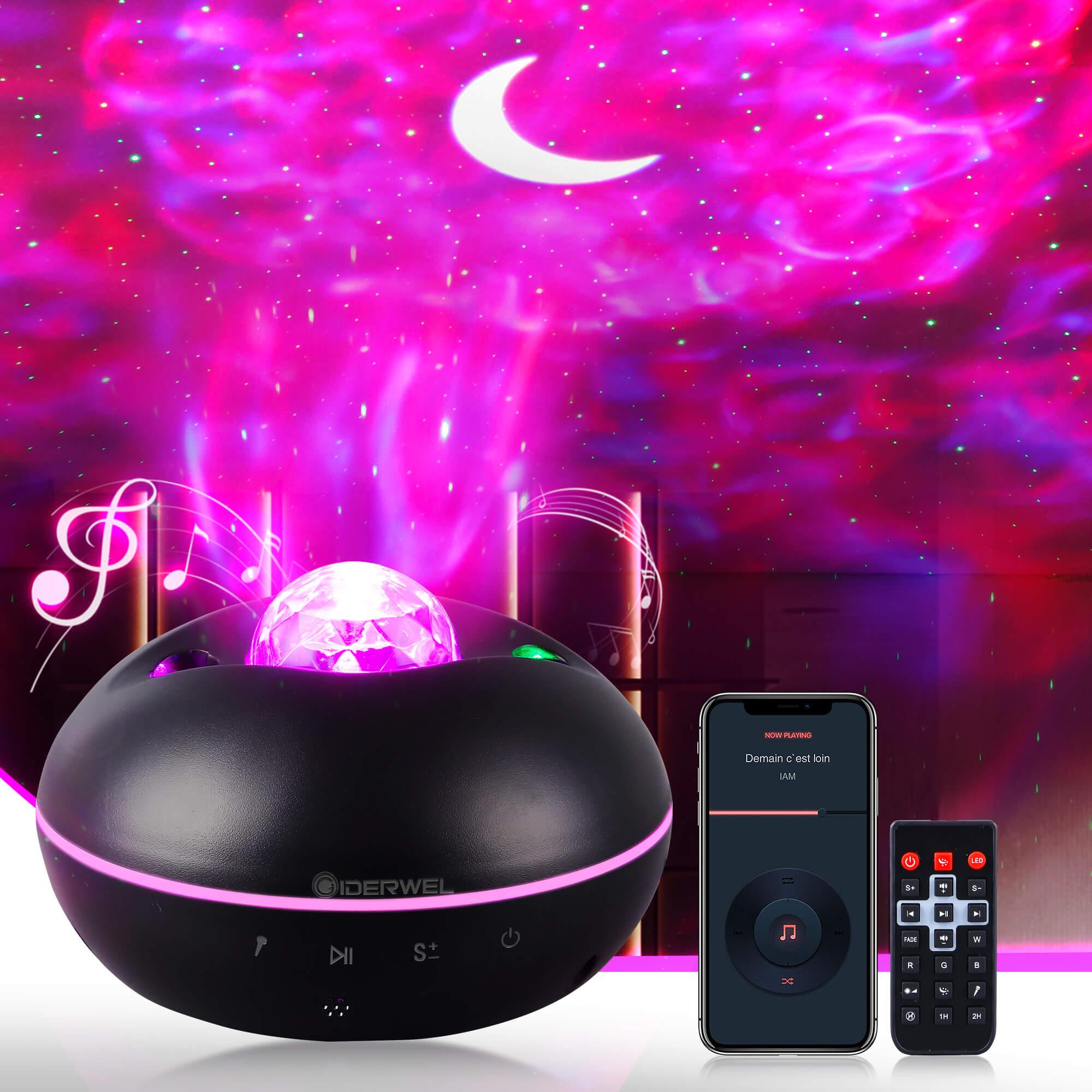 ночник проектор miniland dreamcube 89196 Светодиодный проектор звездного неба, светодиодный ночник с Bluetooth, проектор звездного неба, океанская волна, ночник с музыкой и Bluetooth-динами...