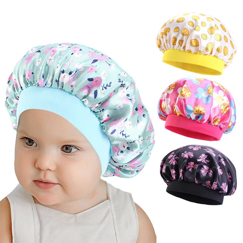 2020 fashion new African children adjustable printing ankara satin bonnet sleep cap turban hat night sleep beanie chemo cap