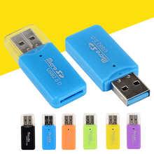 Новейший Высококачественный портативный мини-USB 2,0 Micro SD TF устройство для чтения карт памяти пластиковый адаптер флеш-накопитель SD мобильны...