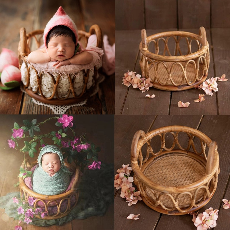 Baby Newborn Photography Props Basket Baby Photo Shoot Container Photography Furniture Studio Fotografie Accessories