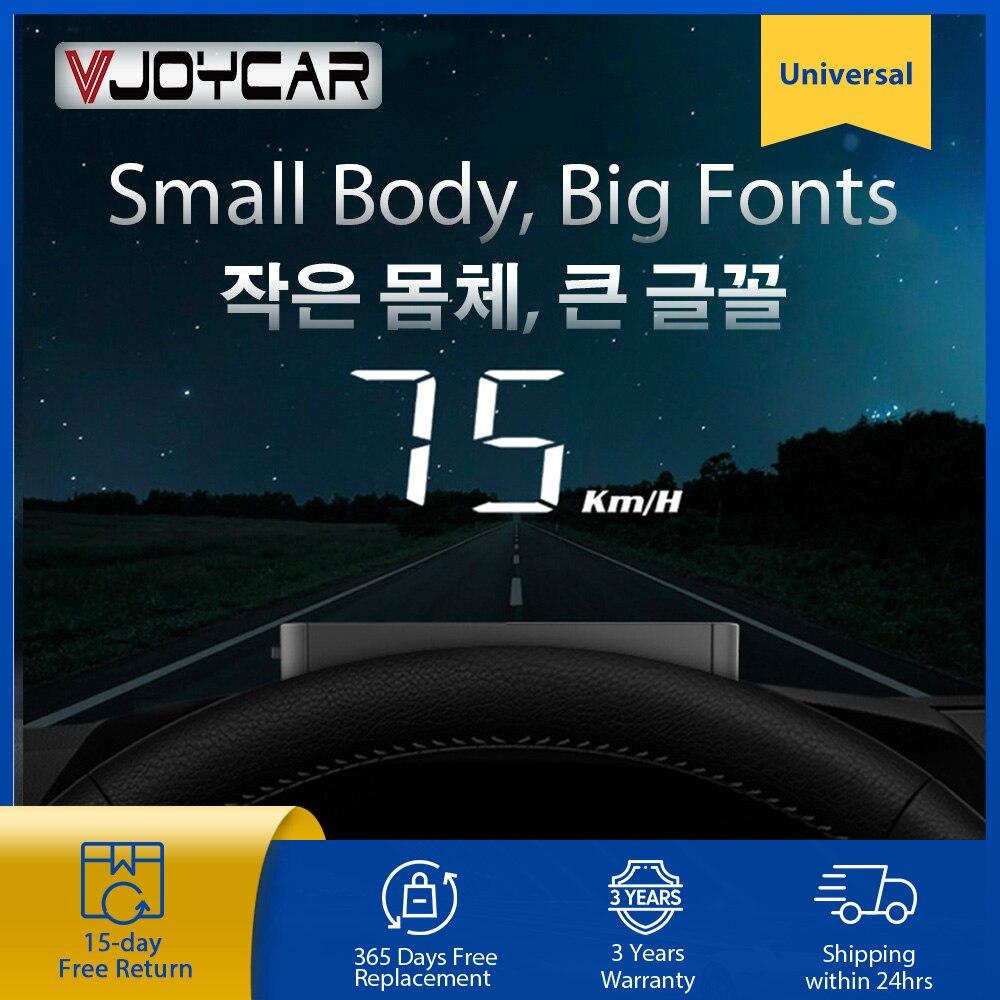 Vjoycar-شاشة عرض أمامية للسيارة A100 Plus ، للكم/الساعة ، إلكترونيات السيارات ، OBD2 ، الزجاج الأمامي ، جهاز عرض Fond الكبير ، درجة حرارة التبريد