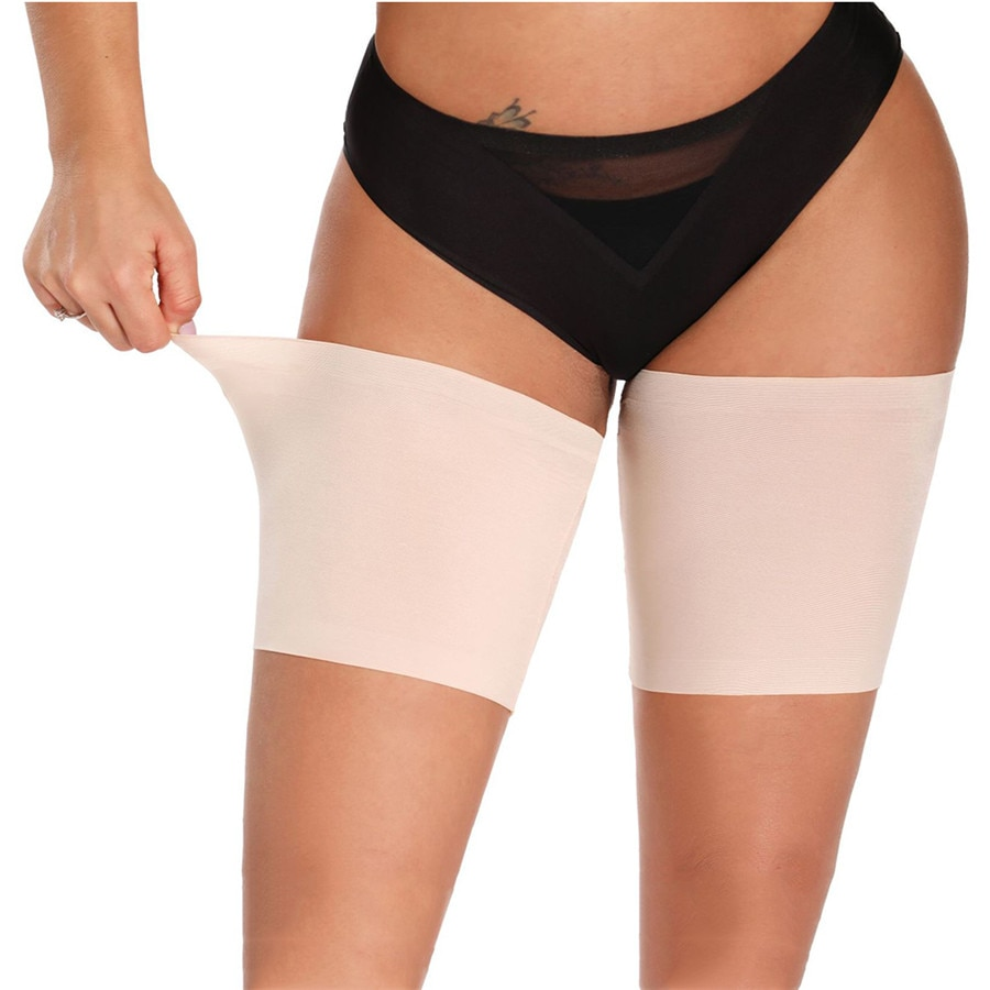 2 Pieces=1Pair Summer Black Sexy Leg Warmers Ladies Invisible Sweet Anti-Friction Non-Slip Warm Thig
