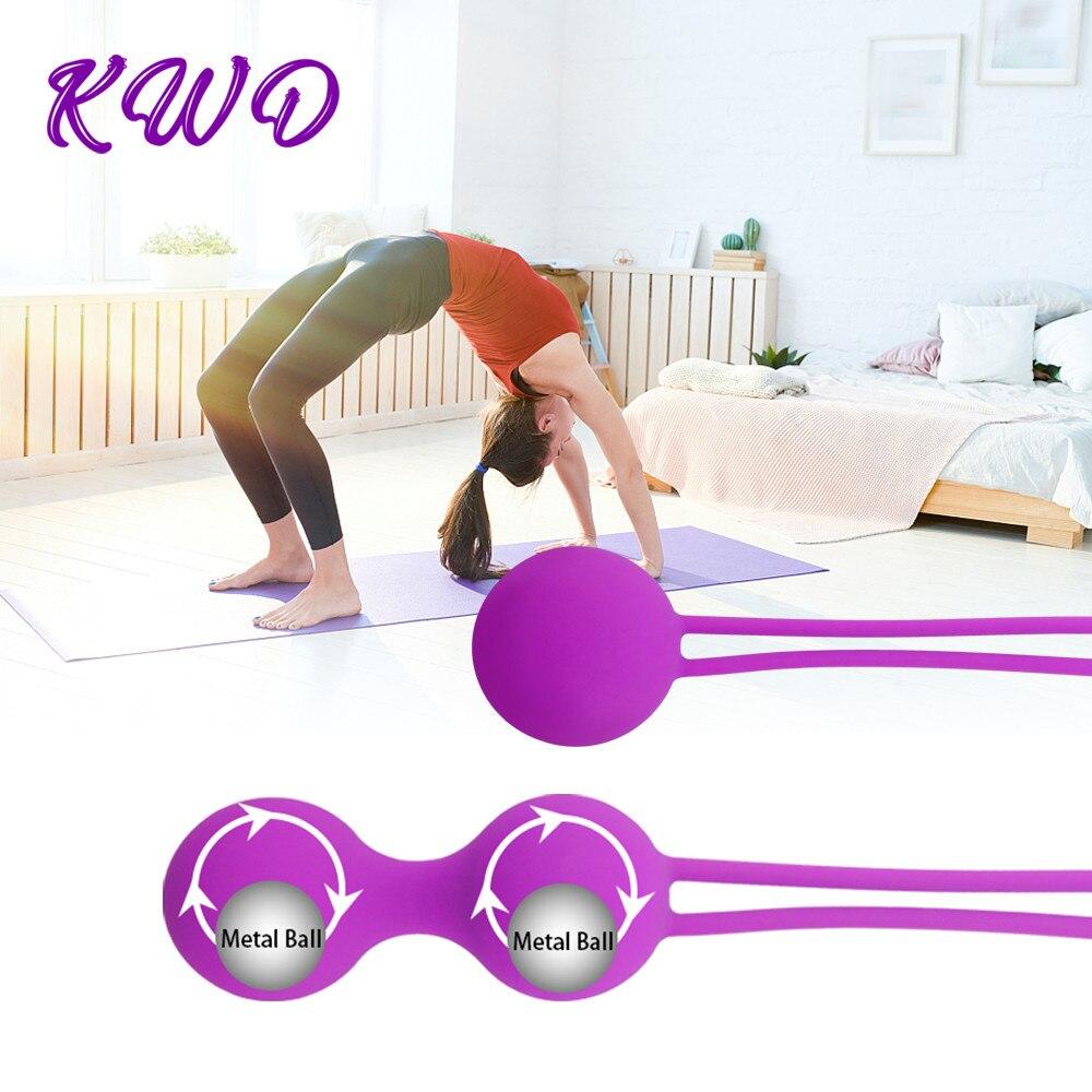 Umania 100% Silicone Kegel Balls,Smart Love Ball for Vaginal Tight Exercise Machine Vibrators,Ben Wa Balls of Sex Toys for Women