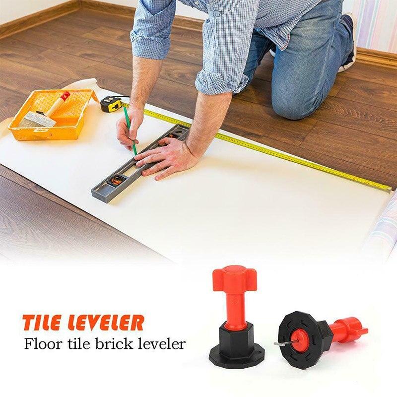 75 Uds. Reutilizable Anti-lipage azulejo sistema de nivelación herramienta localizador cerámica suelo pared sistema nivelador localizador espaciadores alicates