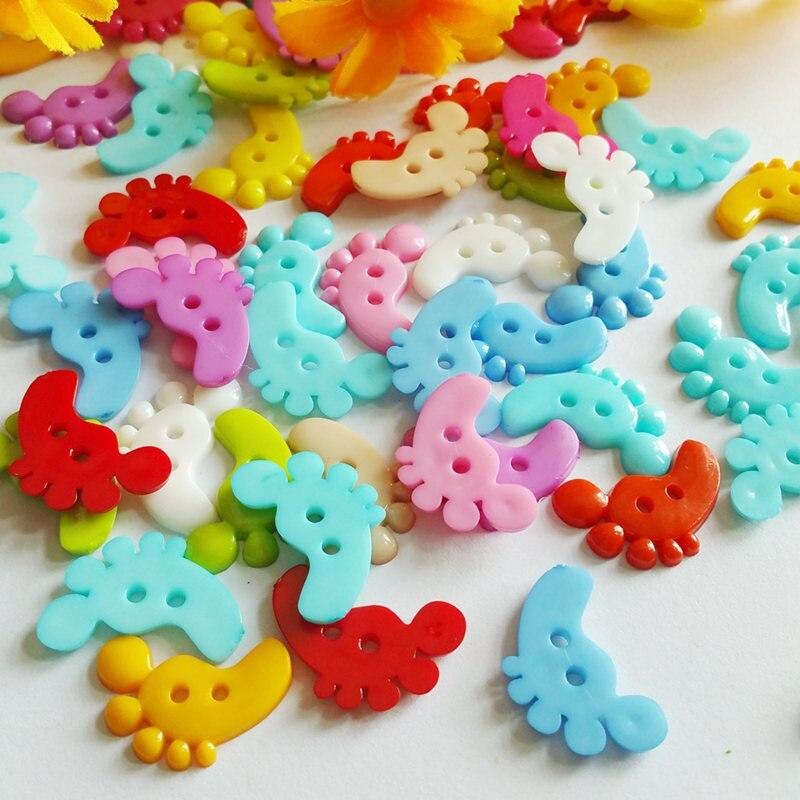 Misturados 100 pces coloridos botões do pé para diy ajuste costura roupas botões 18 mm x 20 mm vestuário acessórios materiais diy