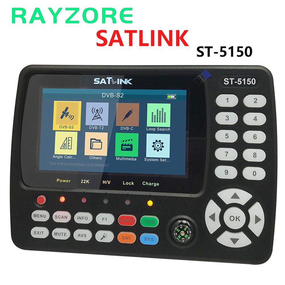 Оригинальный SATLINK ST-5150 спутниковый искатель DVB-S2/T2/C COMBO HD метр HEVC MPEG-4 поддерживает QPSK 8PSK 16apsk 4,3 дюймов TFT LC