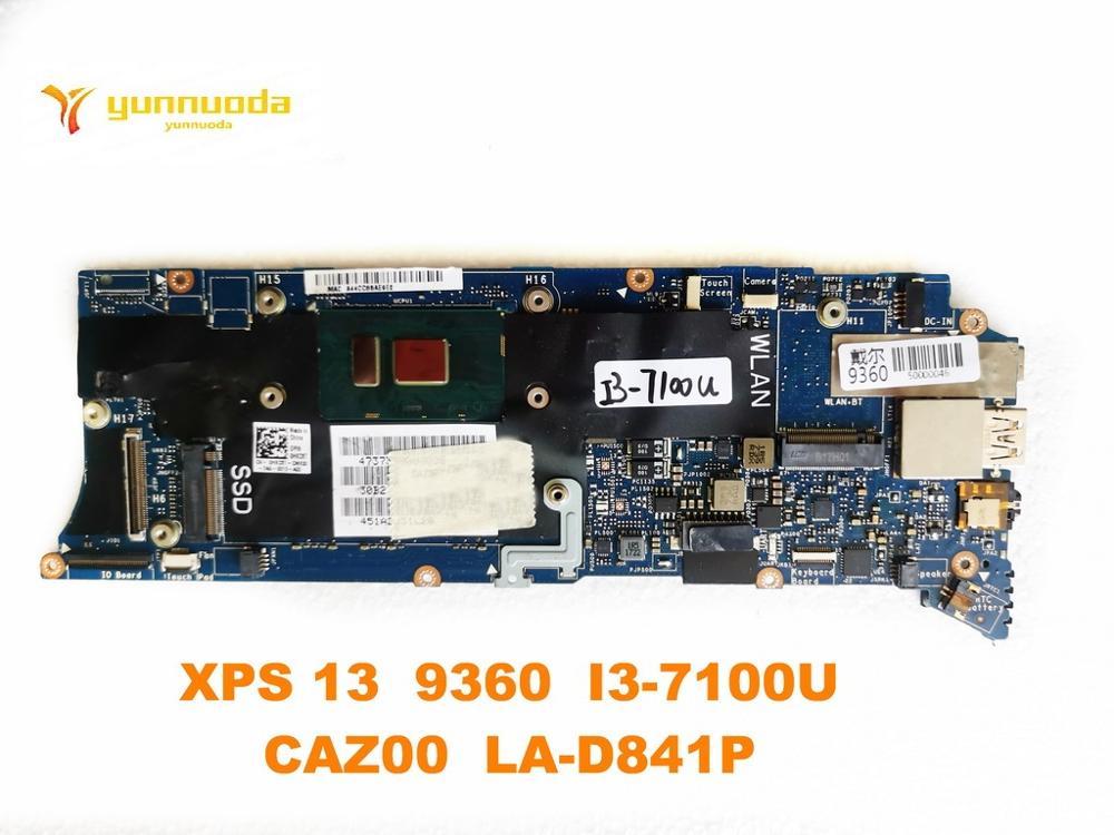 الأصلي لديل XPS 13 9360 اللوحة المحمول XPS 13 9360 I3-7100U CAZ00 LA-D841P اختبار جيد شحن مجاني