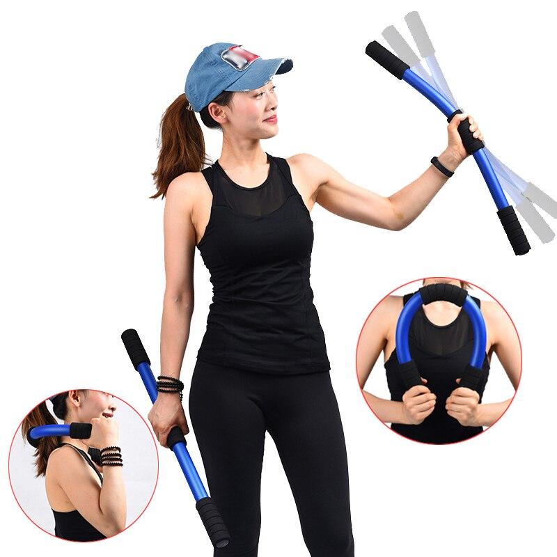 Barra de ejercicios para Pilates en casa, barra aeróbica para Yoga, barra vibratoria elástica, recuperación postparto para mujeres, dispositivo de entrenamiento de equilibrio de tonificación Delgado