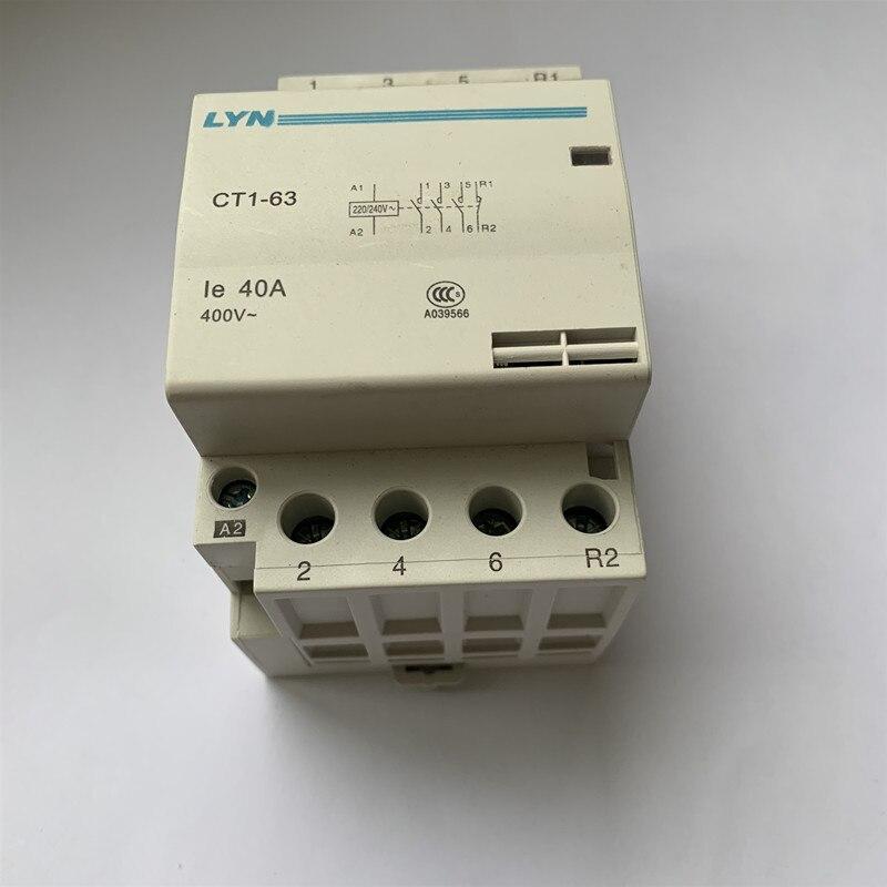 ct1 63 ac casa contator 4p 32a 40a 63a interruptor de contato 220 v 3no1nc 4no 4nc