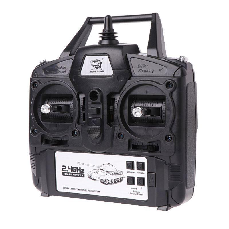 2.4 ghz 5.3 versão 1/16 controlador transmissor de controle remoto conjunto para heng longo tanque rc diy kit brinquedo corrida dxad