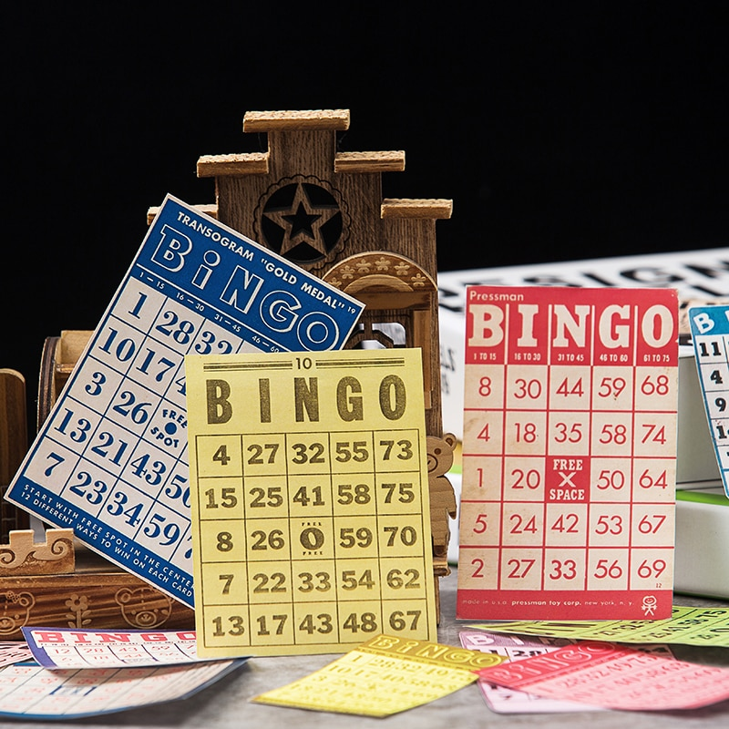 13 unids/lote Vintage Bingo etiqueta billete pegatina para álbum de recortes DIY álbum diario planificador pegatinas