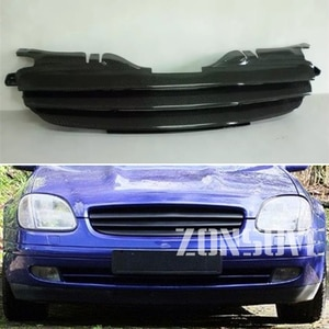 Use For Benz SLK-Class R170 1996---2004 Year Carbon Fibre Refitt Front Center Racing Grille Cover Accessorie Body Kit Zonsuve