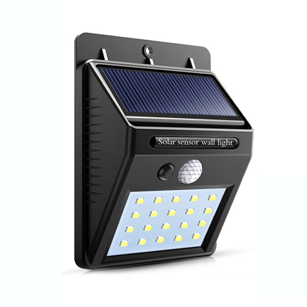 HOT 20 LED Solar Light Outdoor Motion Sensor Recharge Solar Wall Light Waterproof Emergency Led Light Street Garden Porch Lamp