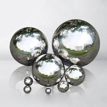 High Gloss Glitter 304 Stainless Steel Ball Sphere Mirror Hollow Ball For Home Garden Decoration Supplies Ornament 80mm~300mm