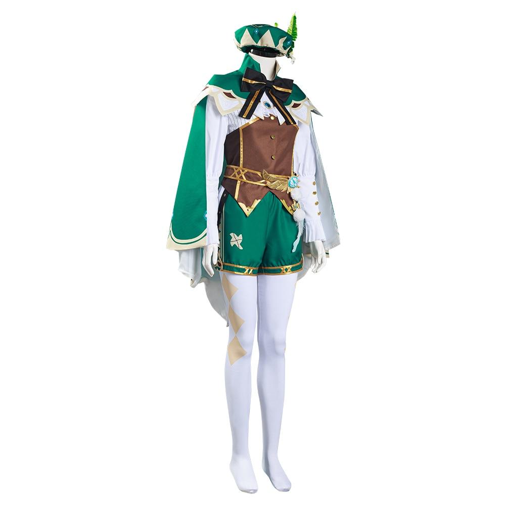 Game Genshin Impact Venti Cosplay Costume Shirt Pants Cloak Hat Outfits Halloween Carnival Custom Make