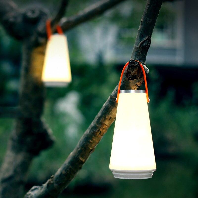 Led sem fio toque inteligente luz da noite de carregamento usb portátil lâmpada acampamento ao ar livre para o quarto sala estar iluminação do banheiro