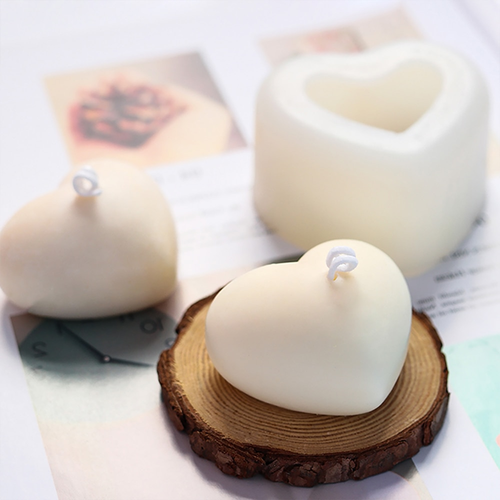 AliExpress - 3D Love Heart Silicone Mold Aroma Plaster Candle Mould DIY Dessert Mousse Baking Pastry Candy Chocolate Moulds Cake Decoration