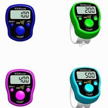 Rotulador de puntada con pantalla Digital LCD, contador de dedos con luz para coser, tejido de punto, Buda Pray, accesorios de fútbol, 1 ud.