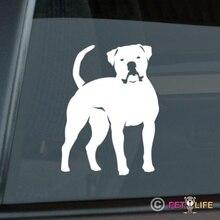 Pegatina de Bulldog americano, troquelado de vinilo, pegatina de ventana bully