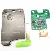 Datong-clé de télécommande monde de voiture   Pour Renault Laguna 46 7947 puce 433 Mhz, clé de commande automobile intelligente à 2 boutons