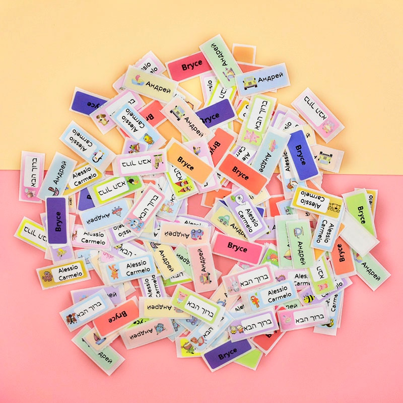 200 Pcs Waterproof Personalized Label Sticker Cute Customize Name Tag Sticker For Kids Girls Scrapbook School Stationery Sticker