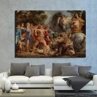 peter paul rubens boar huntpete wall art canvas painting posters prints modern painting wall picture for living room home decor