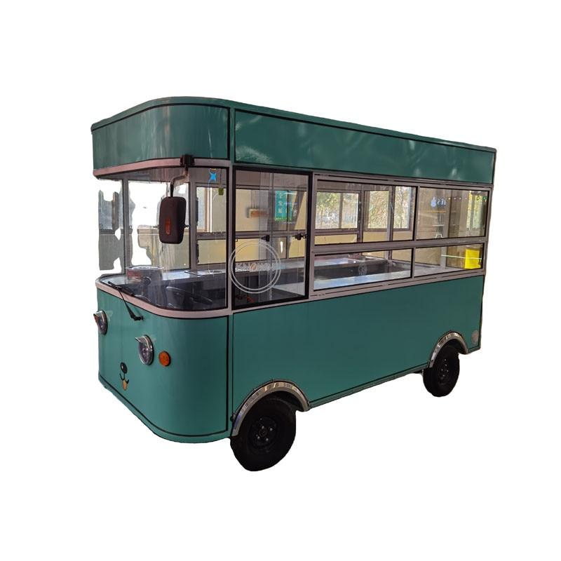 Mobile Kitchen Fast Snack Food Vending Cart Electric Coffee Truck Camper Caravan Catering Van For Park Use