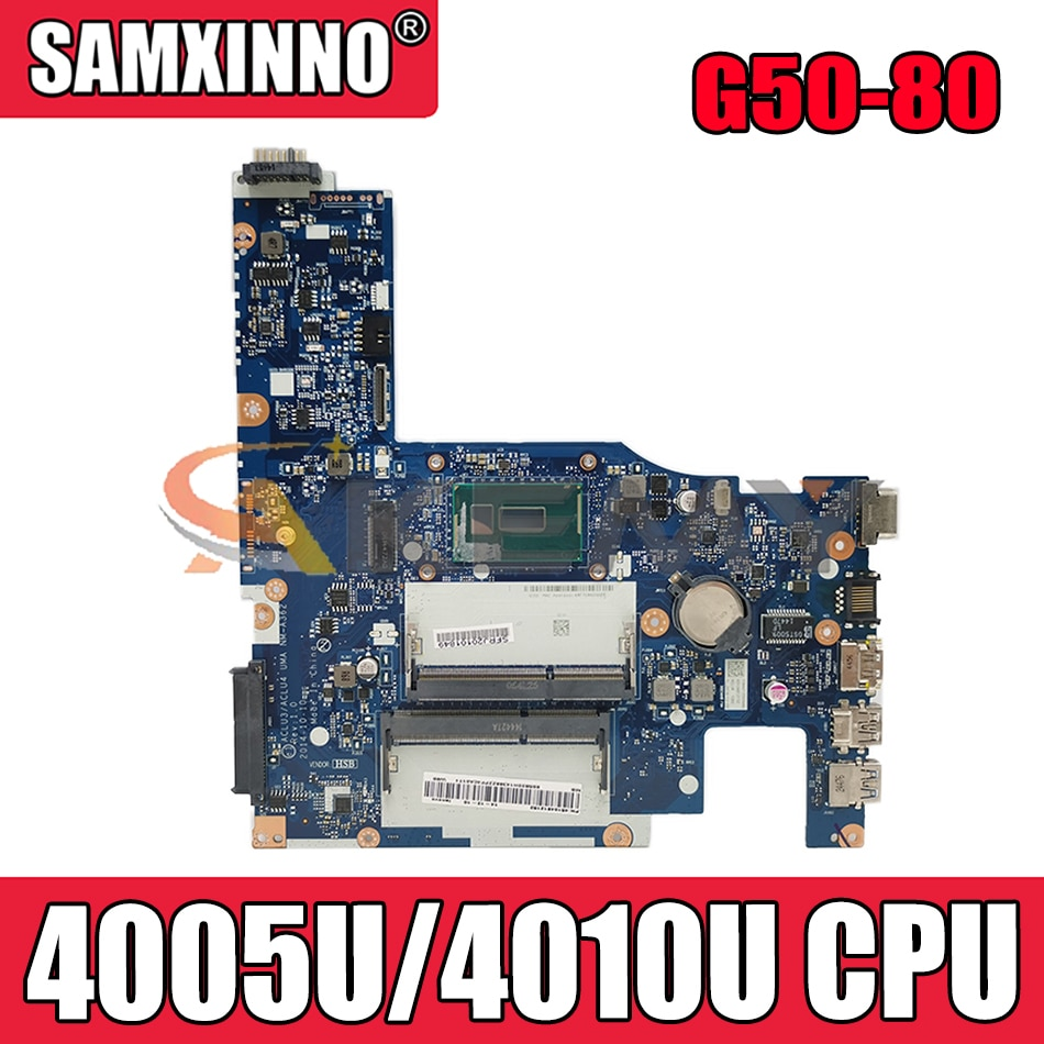 Akemy ACLU3/ACLU4 UMA NM-A362 اللوحة لينوفو G50-80 اللوحة الأم CPU 4005U/4010U DDR3 100% اختبار العمل