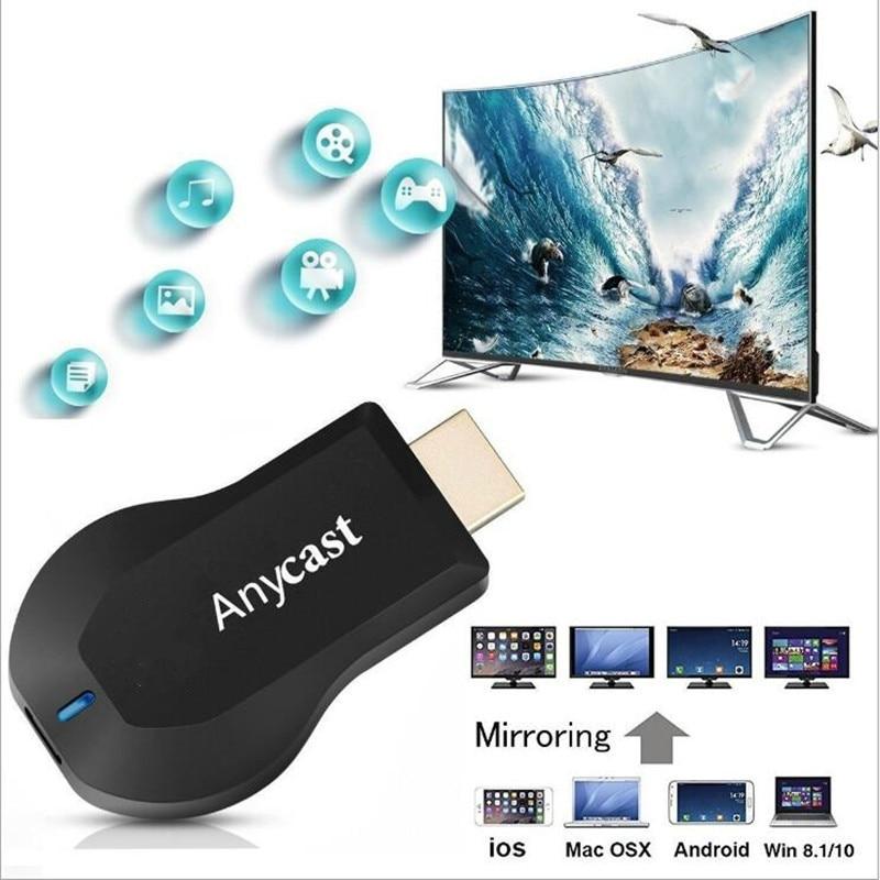 Anycast 128M M2 Miracast TV Stick dowolny ekran lustrzany wyświetlacz WiFi odbiornik Dongle TV dla IOS Android lustro HDMI DLNA AirPlay