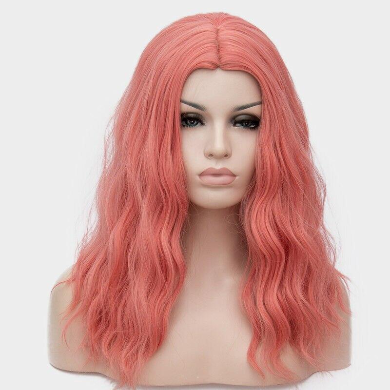 Cosplaymix 50 CM largo rizado Lolita Harajuku Cosplay peluca sintética resistente al calor