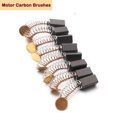 8pcs 4.7x5x8mm Mini trapano smerigliatrice elettrica sostituzione spazzole di carbone pezzi di ricambio per motori elettrici utensili rotanti Dremel