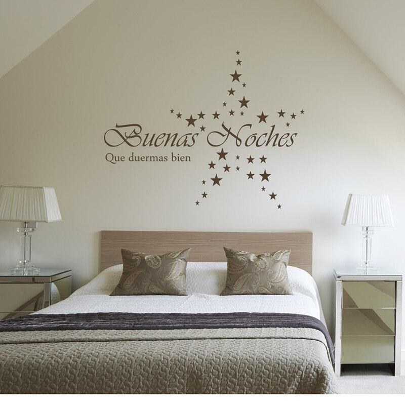 Kililaya pegatina de pared alemana Buenas hoches que duermas bien calcomanías de pared para la decoración de la habitación