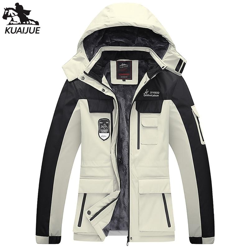 Зимняя Мужская парка 7XL 8XL, мужская куртка с бархатной подкладкой, утепленная ветровка с капюшоном, мужские повседневные теплые куртки, паль...