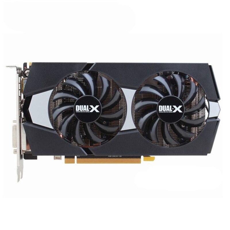الأصلي الياقوت R9 270 2GB بطاقات الفيديو وحدة معالجة الرسومات AMD Radeon R9270 2GB 256Bit بطاقات الرسومات حاسوب شخصي مكتبي ألعاب كمبيوتر خريطة بطاقة الفيديو