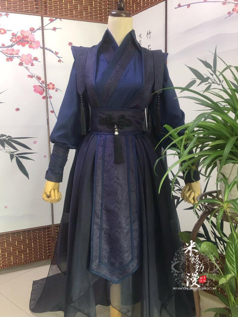 Disfraz de Cosplay de Sha Po Lang Chang Geng Gu Yun, disfraz de Anime chino antiguo de MO DAO ZU SHI para hombres y mujeres, conjunto completo para fiesta de Halloween