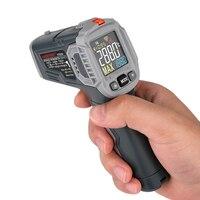 Инфракрасный термометр, цифровой ИК-лазерный измеритель температуры, пирометр, гигрометр, бесконтактный термометр C/F, светильник, сигнализ...