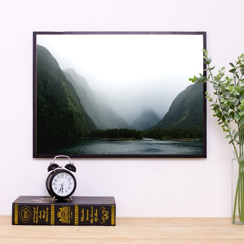 Cuadro de paisaje de montaña Milford Sound New Zealand póster de fotografía moderno lienzo impresión Pared de salón decoración artística