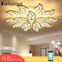 new design acrylic leaves led ceiling lights for living study room bedroom lampe plafond avize indoor ceiling lamp