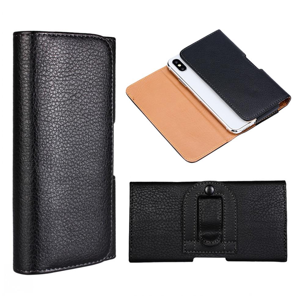 Funda para teléfono con Clip de cinturón para OnePlus 7 Pro 5G Funda de cuero PU con tapa para Nomu S30 para TCL Plex Coque etui