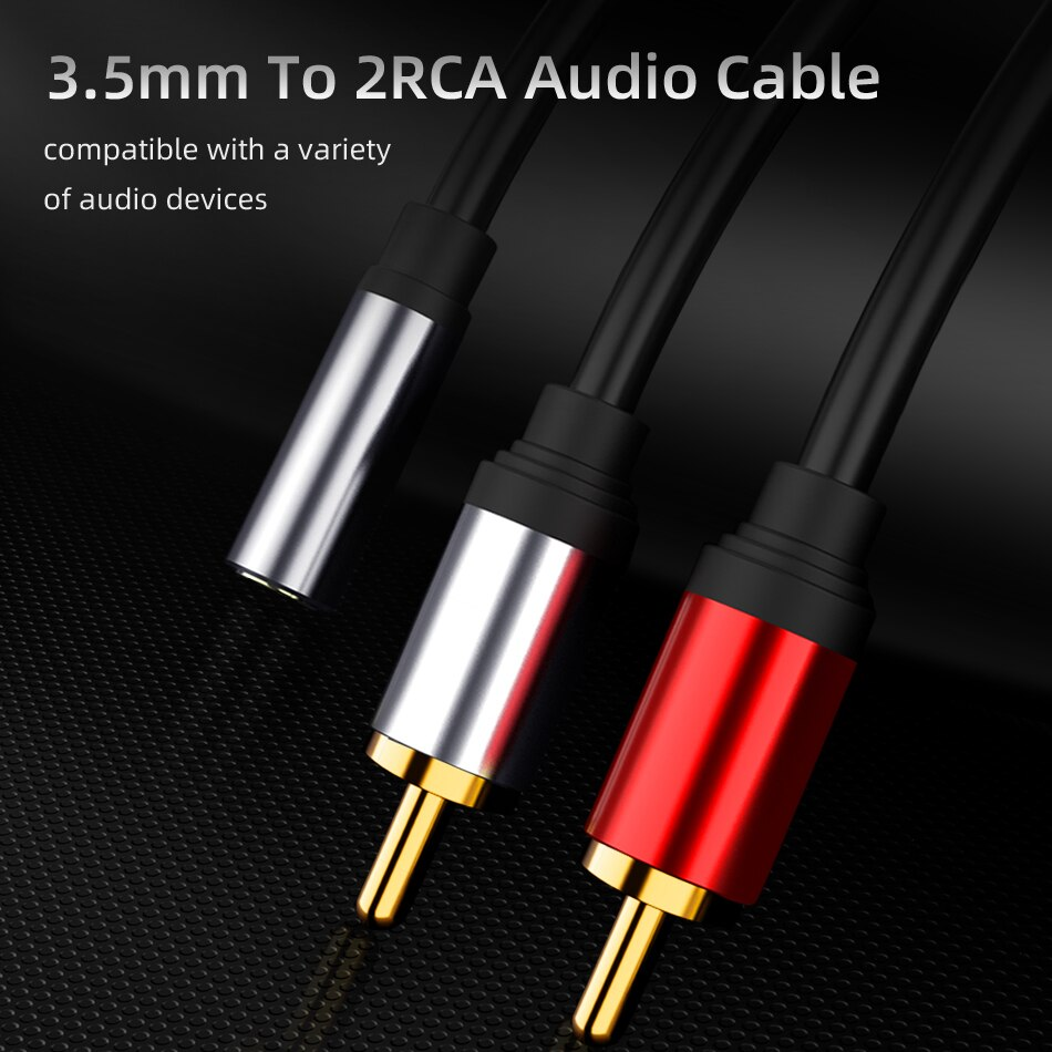 Аудиокабель RCA 3,5 мм штекер 2RCA разъем аудио адаптер Aux Cabo для iPhone Edifer домашний кинотеатр DVD VCD наушники