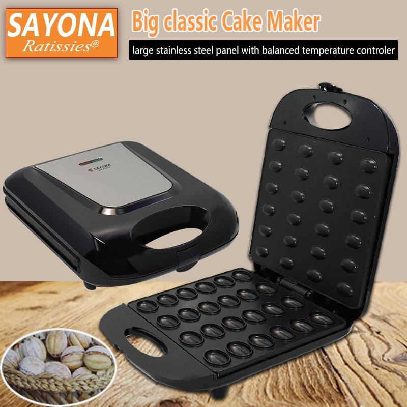 آلة الجوز المنزلية الكبيرة آلة الجوز آلة مقلاة ماكينة صنع الكعك آلة شطيرة آلة الخبز آلة دونات