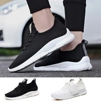 mens casual shoes lace up vulcanize sneakers lightweight walking shoes mesh flats sweat absorbant breathable zapatillas hombre